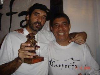 Tubarão e Sérgio Vaz na Cooperifa !!!